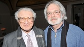 Fiorello!'s Tony-winning lyricist Sheldon Harnick celebrates the evening with Assassins scribe John Weidman. John's father Jerome wrote the book to Fiorello!.