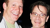 Steve Guttenberg and Peter Scolari, who starred off-Broadway in The Exonerated, pal around on the lane.