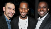 Heights original cast members Javier Munoz and Joshua Henry flank Marcus Paul James, who also appeared in the Broadway production.