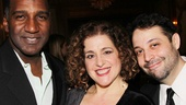 McDonalds Porgy and Bess co-star Norm Lewis, her Marie Christine co-star Mary Testa and Broadway vet Steve Rosen make their entrance at the Pierre Hotel.