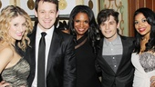 Stage favorites Caissie Levy, Michael Arden, Andy Mientus and Rebecca Naomi Jones flank the lovely Audra McDonald on her big night.