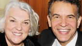 Tony winners Tyne Daly and Brian Stokes Mitchell pose together at the gala dinner.
