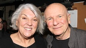 Tony winner Tyne Daly, cast as Emma Goldman, shares in the excitement with Ragtime scribe Terrence McNally. (Last season, Daly led a revival of McNally's Master Class.)