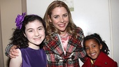 Kerry Butler introduces her daughter Segi to her Ragtime co-star (and Annie star!) Lilla Crawford.