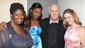 Ladies' Man! Dick Latessa is surrounded by his beautiful Ragtime co-stars NaTasha Yvette Williams, Patina Miller and fellow Hairspray alum Kerry Butler.