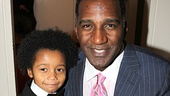 Norm Lewis poses with his adorable onstage son Joshua.