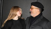 Aw! Daddy's girl Zosia Mamet thanks her famous father David for his support.