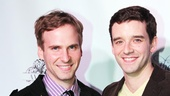 How to Succeed vet Michael Urie (r.) snaps a photo with his longtime boyfriend Ryan Spahn.