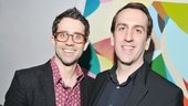 Music director Rob Berman (r.) celebrates opening night with his partner, choreographer Chase Brock.