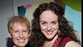 Tony nominee Liz Callaway congratulates star Melissa Errico on opening night.