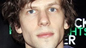 Actor and playwright Jesse Eisenberg steps onto the carpet for his play's big opening night.