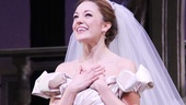Cinderella title star Laura Osnes is overwhelmed by the opening night love from the audience at the Broadway Theatre.