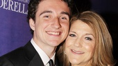 Victoria Clark gets a big opening night hug from her handsome son, Thomas Luke. 