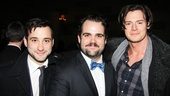 Cinderella marks Greg Hildreth's third show on Broadway. He's flanked by co-stars from his two previous outings, Teddy Bergman (Peter and the Starcatcher) and Benjamin Walker (Bloody Bloody Andrew Jackson).