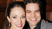 Laura Osnes receives some opening night love from her former Bonnie &amp; Clyde co-star Jeremy Jordan. 