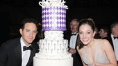 Santino Fontana and Laura Osnes present the beautiful cake for Cinderella. 