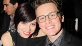 Spring Awakening vets Krysta Rodriguez and Jonathan Groff reconnect at the gala. 