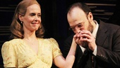Sarah Paulson and Danny Burstein share a moment during the opening night curtain call of Talley's Folly.