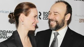 Off stage, Sarah Paulson and Danny Burstein look even cuter as a duo as they meet the press.