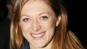 Tony nominee Marin Ireland (of the upcoming The Big Knife) flashes a winning smile at the opening night party.