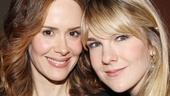 Besties Sarah Paulson (currently breaking hearts off Broadway in Talleys Folly) and Lily Rabe score some quality time with each other.