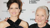 Carla Gugino reunites with her Road to Mecca co-star Rosemary Harris.
