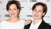 Old Acquaintance actress Margaret Colin leans on her date, son Sam Deas.