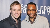 The Book of Mormon cast members Brian Sears and Tommar Wilson support their fellow performers.
