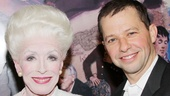 Emmy winners Holland Taylor (still in her Ann costume here) and Jon Cryer play mother and son on Two and a Half Men.
