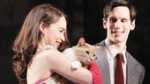 Emilia Clarke and Cory Michael Smith welcome kitty companion Vito Vincent to the stage for his bow!