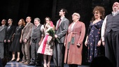 The company of Breakfast at Tiffany's assembles for curtain call.