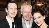 Director Sean Mathias gets between his leading duo Cory Michael Smith and Emilia Clarke.