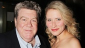 Cheers alum George Wendt shows off a smile with cast member Elisabeth Anthony Gray.