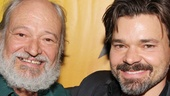 Can you see the resemblance? Benny Perkins shares a moment with Hunter Foster, who plays Benny in the musical!