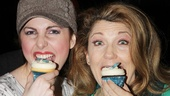Cinderella co-stars (and former Sister Act castmates) Marla Mindelle and Victoria Clark take a big bite out of the Magnolia cupcake.