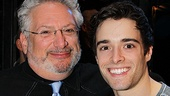 Harvey Fierstein and Newsies star Corey Cott couldnt look happier to celebrate their show&#39;s first birthday.