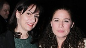 Alice McAlary (wife of the late Mike McAlary) looks lovely alongside the Emmy nominee who plays her, Maura Tierney.