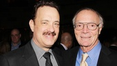 Tom Hanks bonds with Nora Ephron's widower, author Nick Pileggi.
