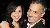 Rosie Perez looks happy to be reuniting with director Joe Mantello, who directed her in The Ritz and Frankie and Johnny in the Clair de Lune.