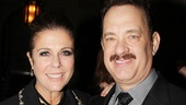 What a night! Hollywood power couple Rita Wilson and Tom Hanks take a breather amid the festivities.