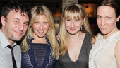 Trip Cullman, Ari Graynor, Halley Feiffer and Rebecca Henderson hang out at HB Burger.