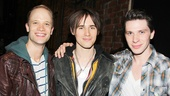 Reeve Carney congratulates his former Spider-Man castmates (now Kinky Boots Angels) Kyle Post and Joey Taranto.