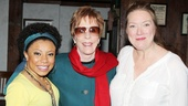 Carol Burnett congratulates Vanya standouts Shalita Grant and Kristine Nielsen on their hilarious performances.