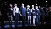 The cast of Broadway's Chicago step up and take a bow at curtain call.