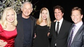 Timatha Kasten, Victor Garber, Marin Mazzie and Jack Noseworthy, who performed showstoppers from Richards' Broadway career, are pictured with Chicago film director Rob Marshall (second from right).
