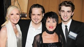 Memorial speaker Michelle Herbet and host Chita Rivera join the evenings producers, Dan Gallagher and Ryan Dodson, for a backstage photo.