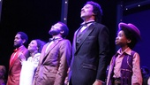 Bryan Terrell Clark, Valisia LeKae, Brandon Victor Dixon, Charl Brown and Raymond Luke Jr. take their bows.