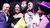 Berry Gordy, Diana Ross, Brandon Victor Dixon, Valisia LeKae and Raymond Luke Jr. are all smiles on opening night.