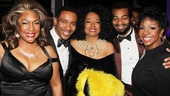 Mary Wilson, Motown director Charles Randolph-Wright, Diana Ross, Brandon Victor Dixon and Gladys Knight enjoy the great company backstage.