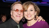 Edward Hibbert congratulates his friend Cady Huffman on her Broadway opening.